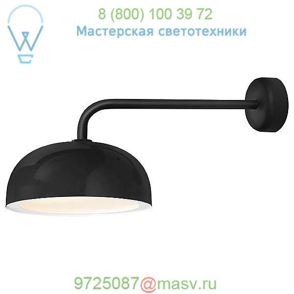 Dome Outdoor Wall Sconce Troy RLM Lighting DM14MBKWT3LC18, уличный настенный светильник